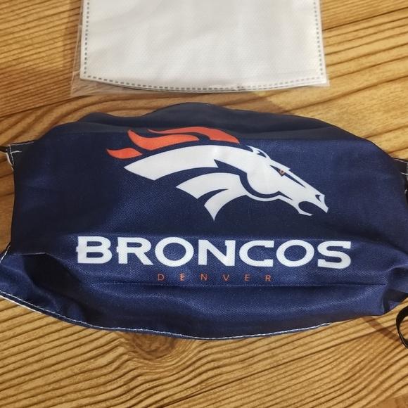 Mens Denver Broncos mask with removable filters